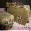 Odors neutralizing emollient coffee soap in juice box