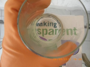 Making transparent soap - test for transparency 3