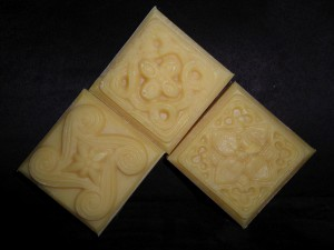 Soap with wheat germ oil