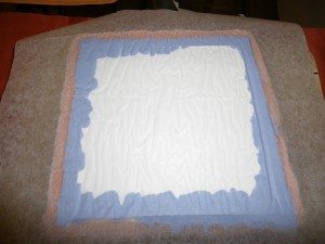 Homemade silicone soap mold - after hardening