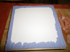 Homemade silicone soap mold - finished - cutted