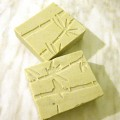 Herbal soap with bamboo impression