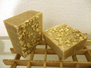 Oatmeal whey and honey soap