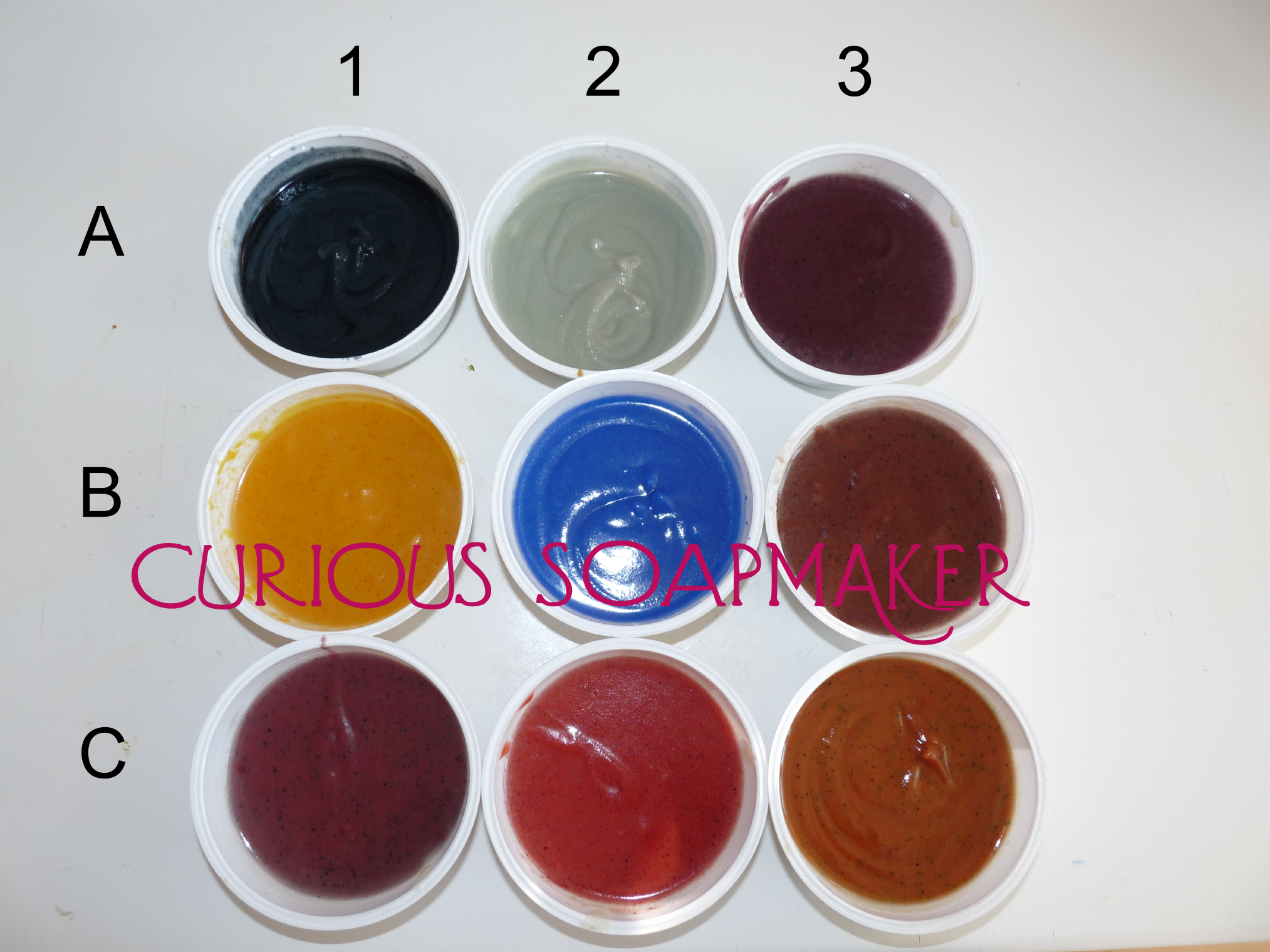 Test of food colorants in soap – part 2 - after 48 hours
